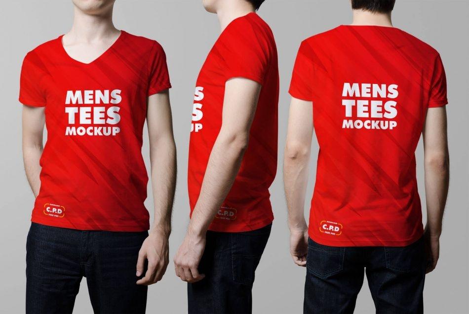 v neck male t shirt mockup free psd psd stash