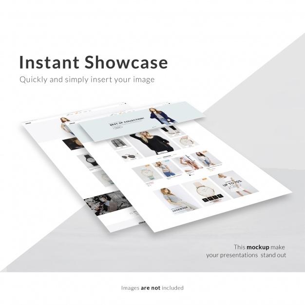 webpage mock up psd file free download