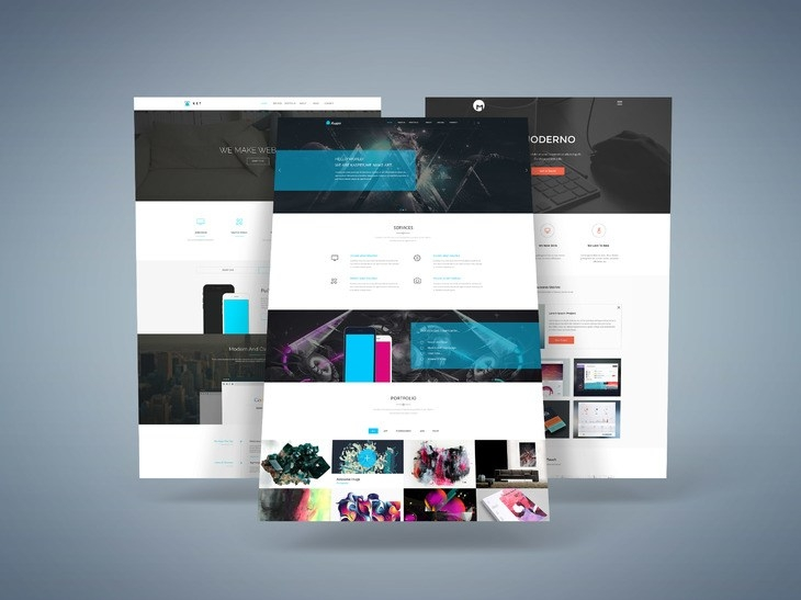 website presentation mockup free psd download psd