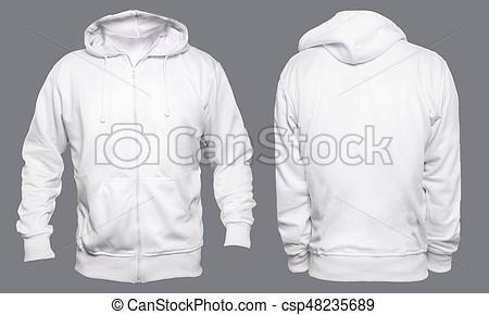 white hoodie mock up