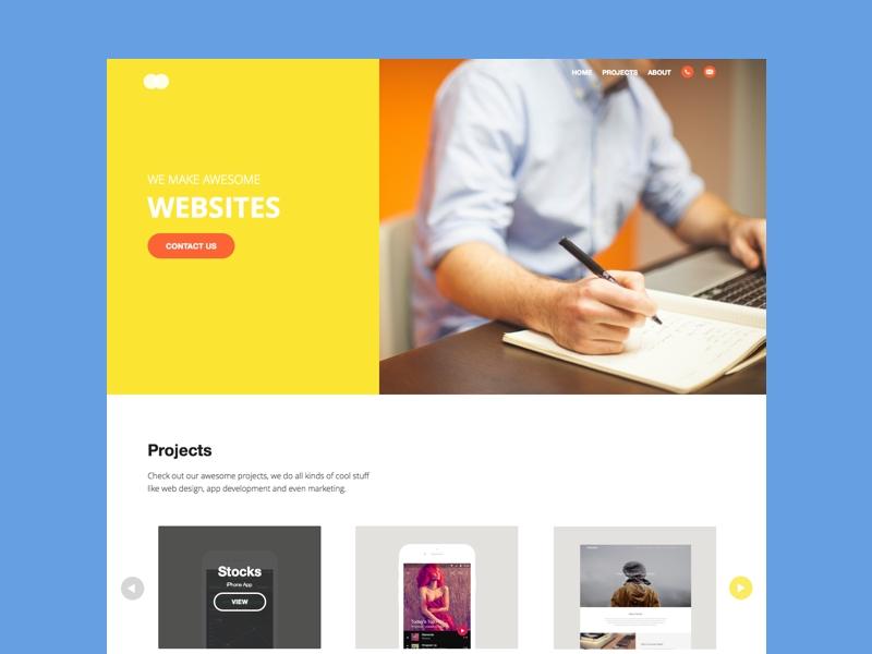 yugo mockup website sketch freebie download free resource for