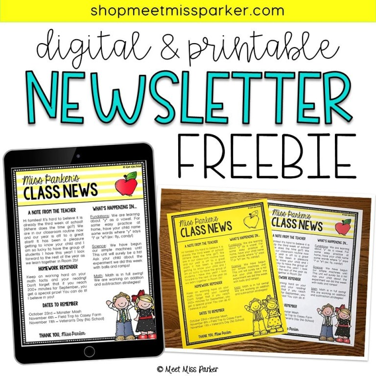 004 unbelievable free teacher newsletter template concept