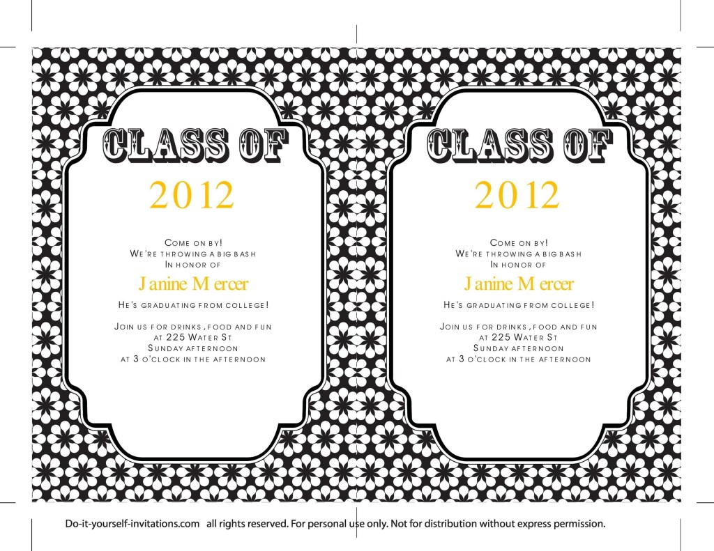009 sensational college graduation invitation template photo