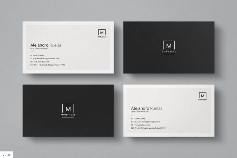 11 simple modern business card templates bold leap creative