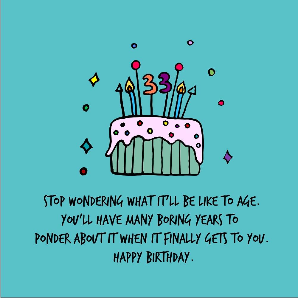 33th happy birthday quotes