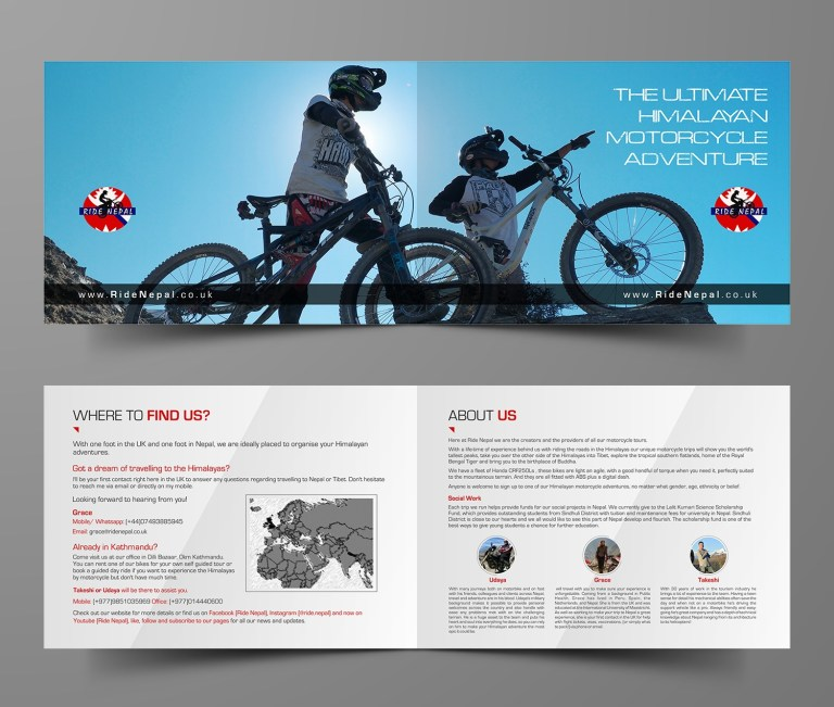 adventure brochure design for a company