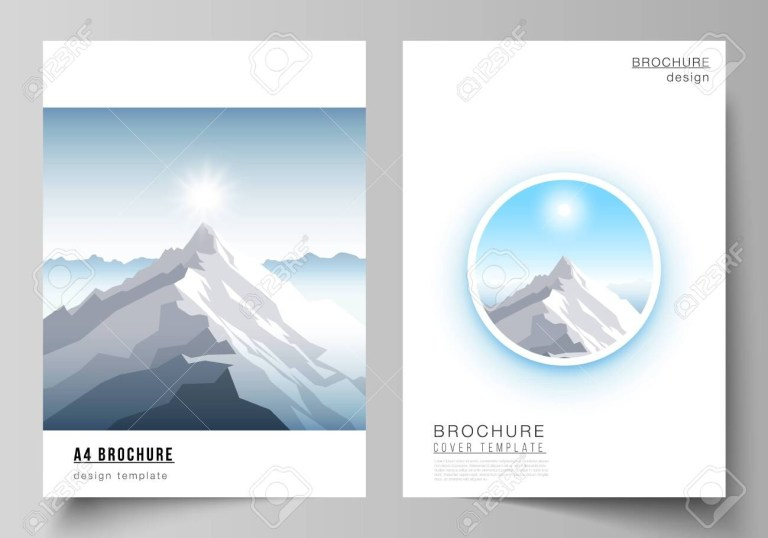adventure brochure design vector