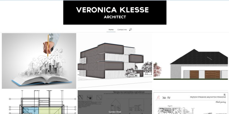architect portfolio website