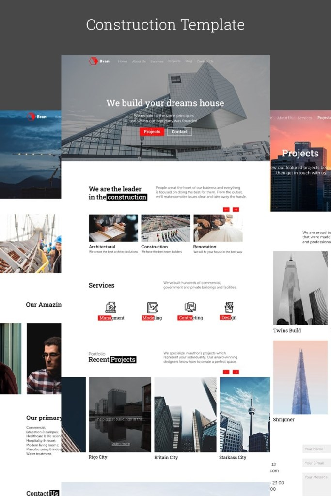 architecture psd templates