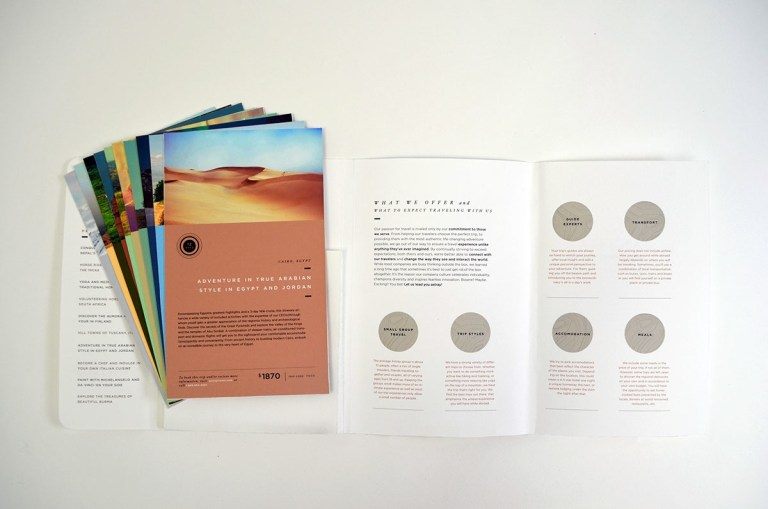 astray travel co brochure design
