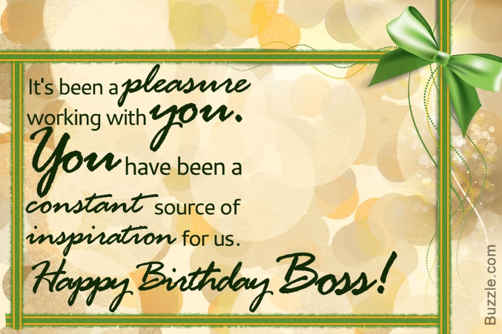 birthday wishes for your boss