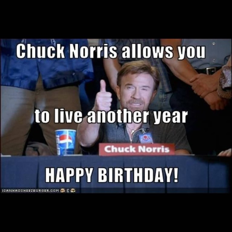 chuck norris happy birthday meme funny