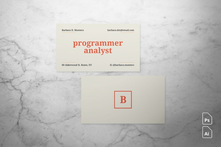 clean simple business card design by dannyaldana