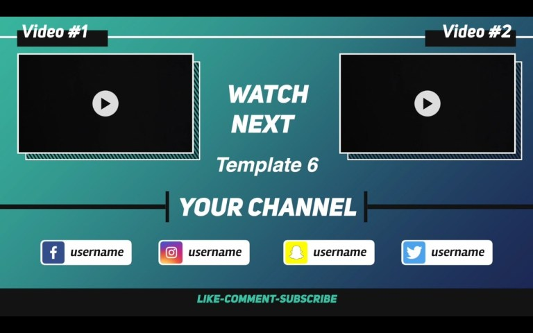 create animation youtube end screen outro video