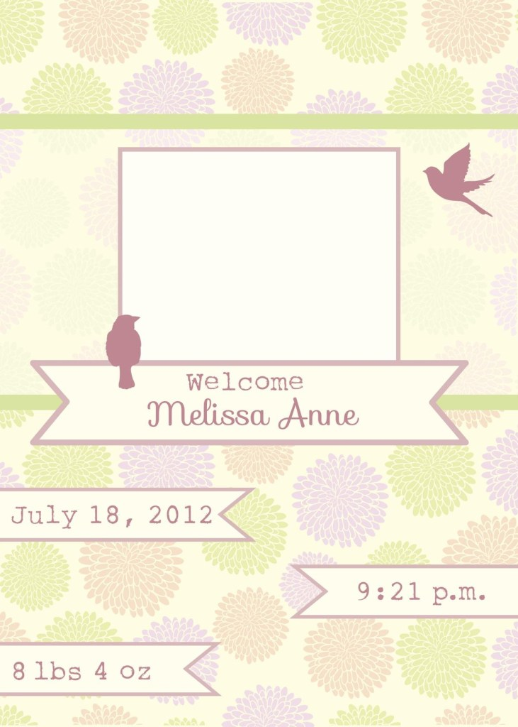 creative birth announcement templates