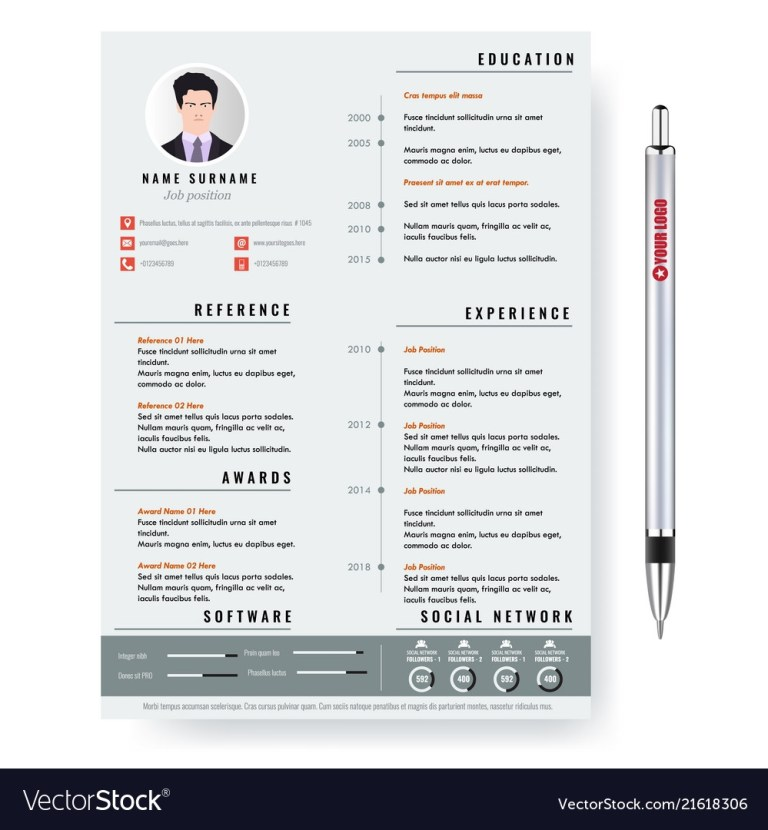 creative minimalist cv resume template with