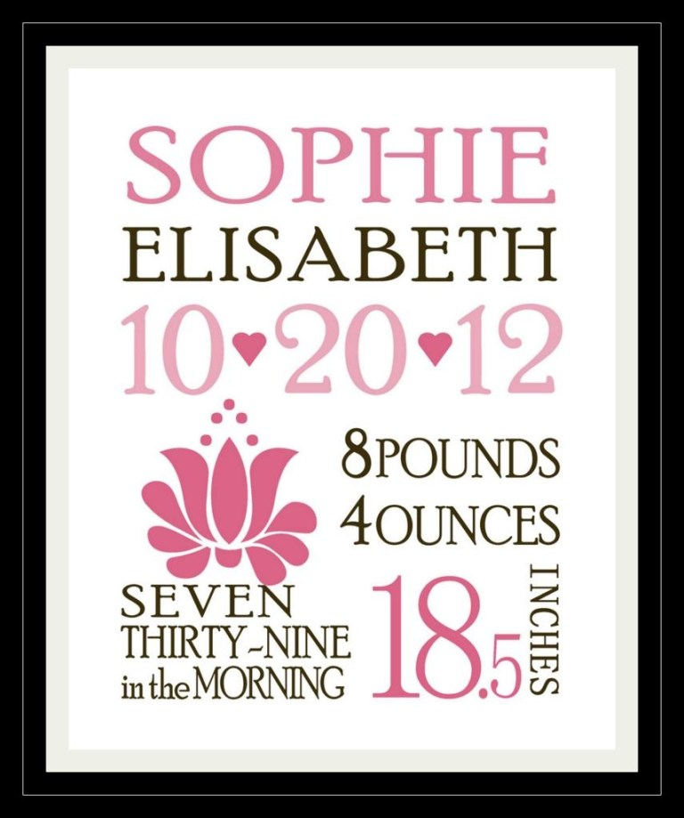 custom birth announcements template