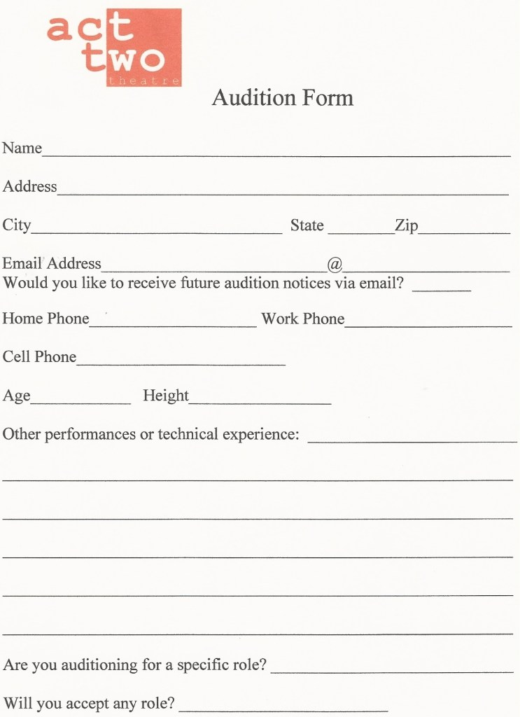 dance audition resume template sample customer service resume