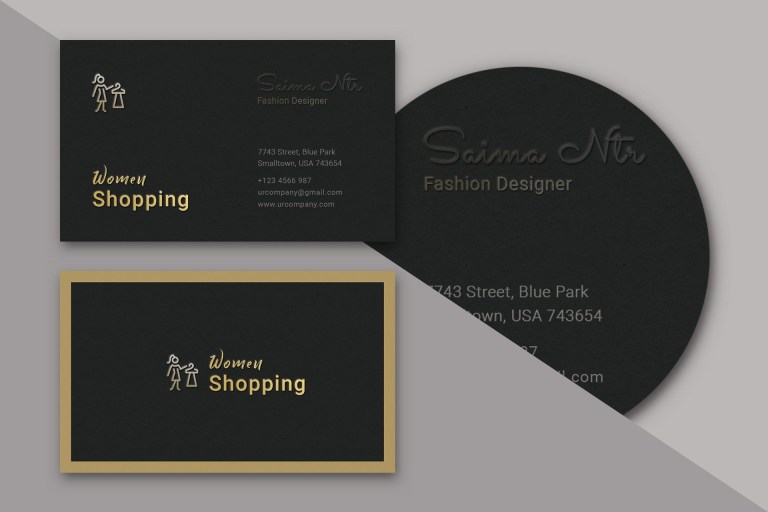 dark business card concept design