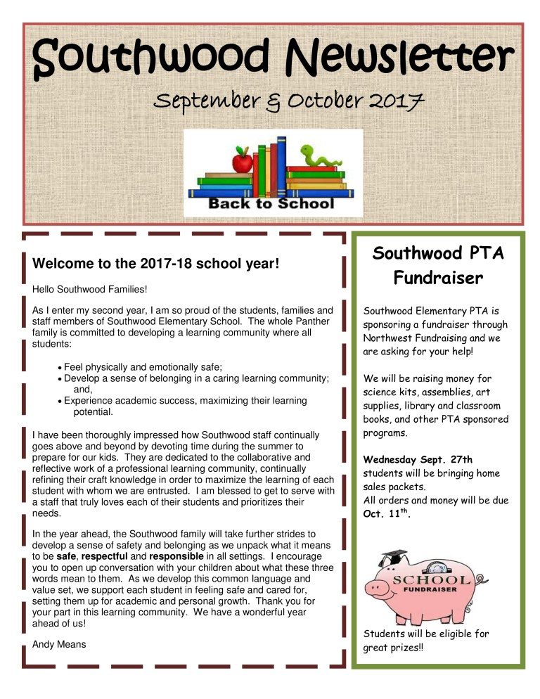 education back to school newsletter sample templates at