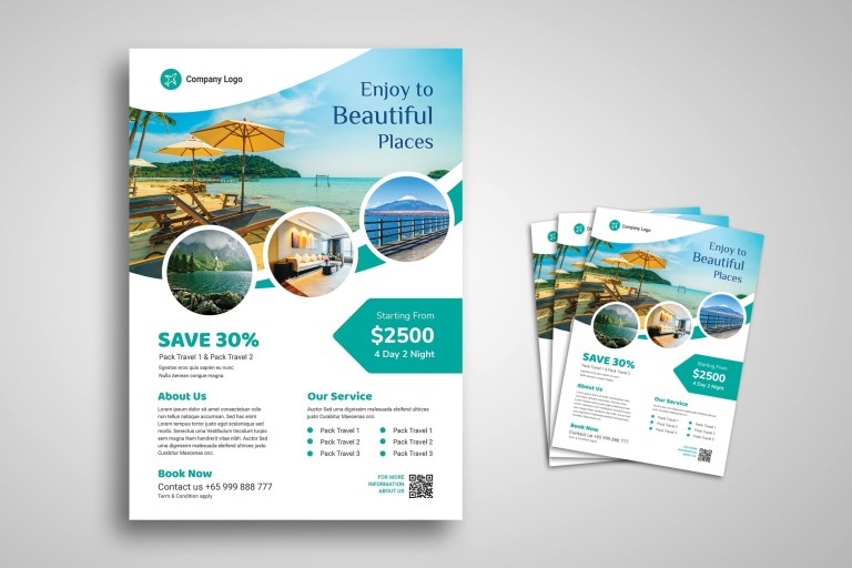 flyer template travel holiday
