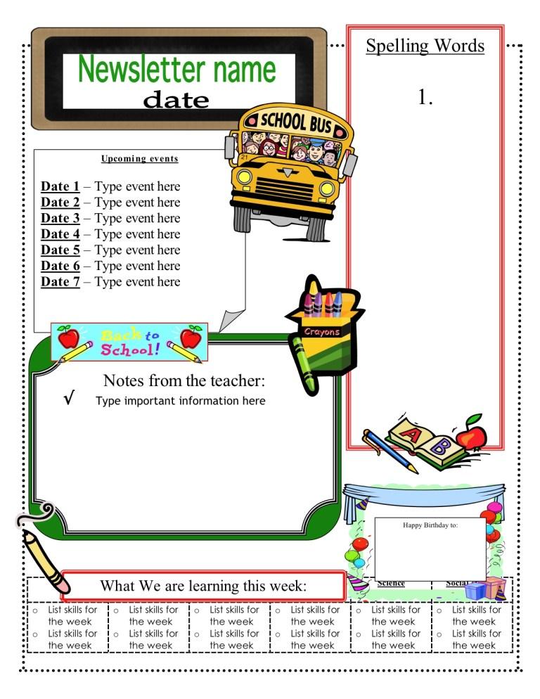 free classroom newsletter templates classroom newsletter