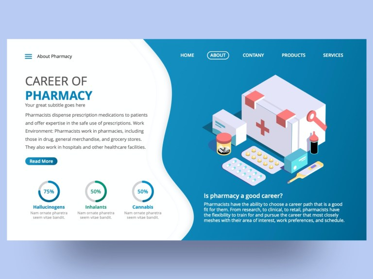 free medical powerpoint slide template premast on dribbble