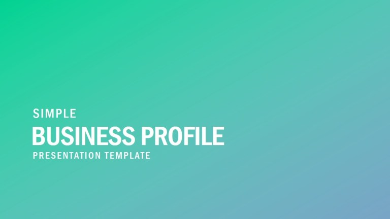 free simple business profile powerpoint template