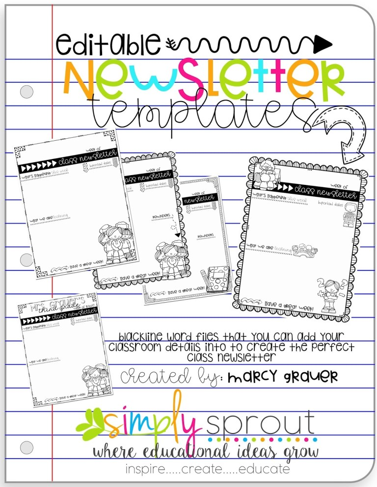 get back to school ready with editable newsletter templates