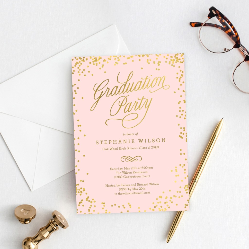graduation any colors party invitations announcements