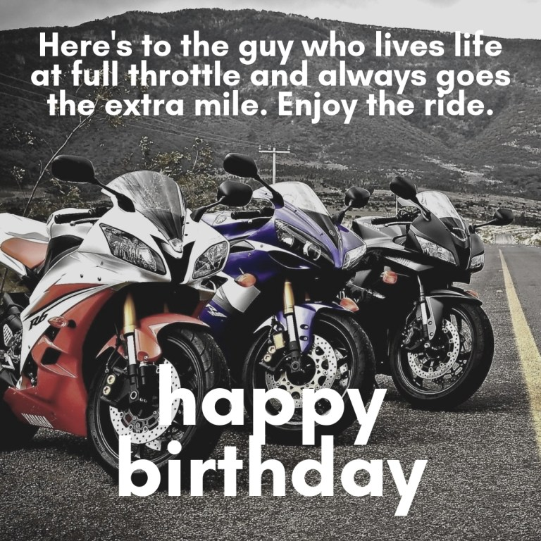 happy birthday motorcycle quotes