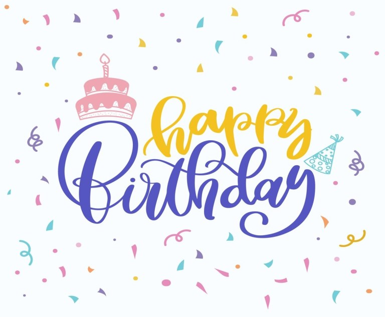 happy birthday wishes vector art graphics