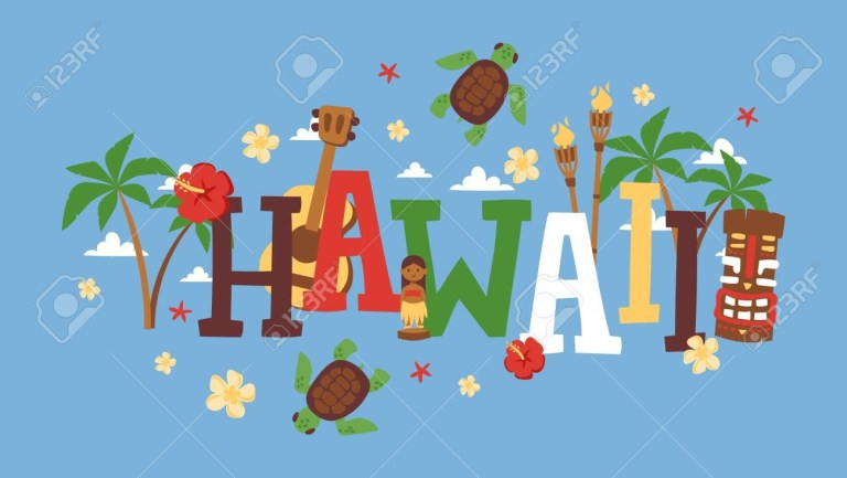 hawaii typography vector illustration