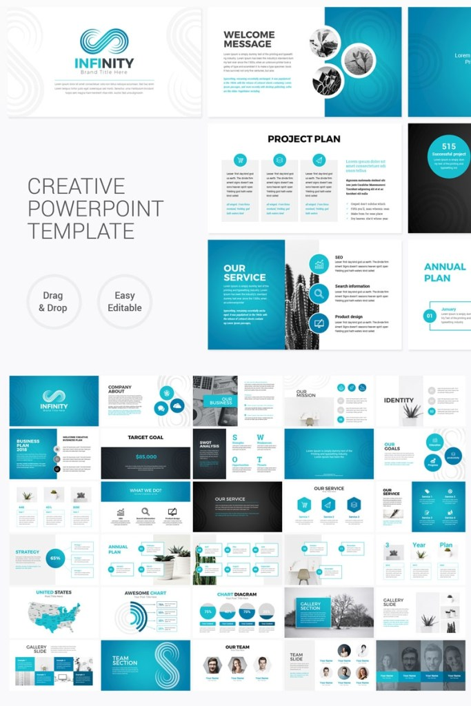 infinity modern powerpoint template
