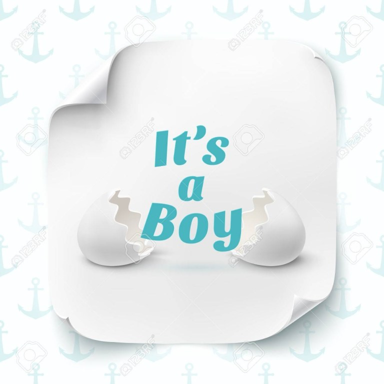 its a boy template for baby shower announcement