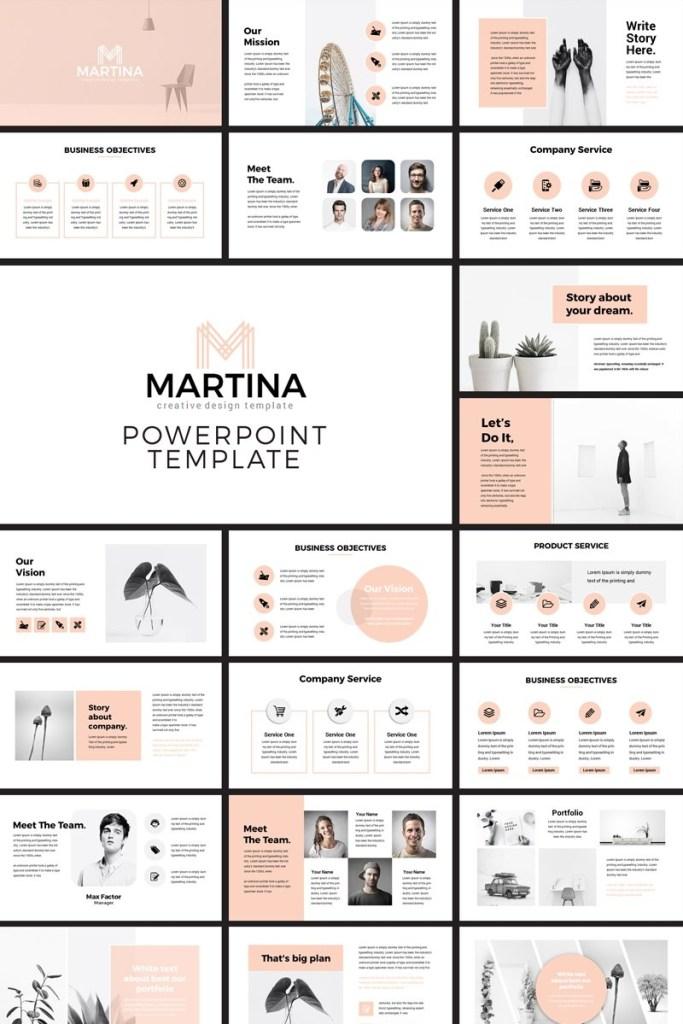 martina modern powerpoint template