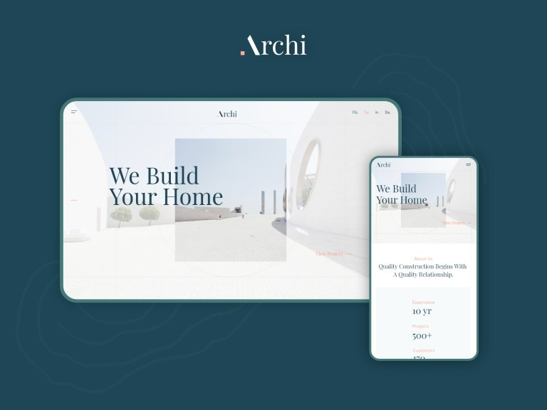 minimalist architecture portfolio website