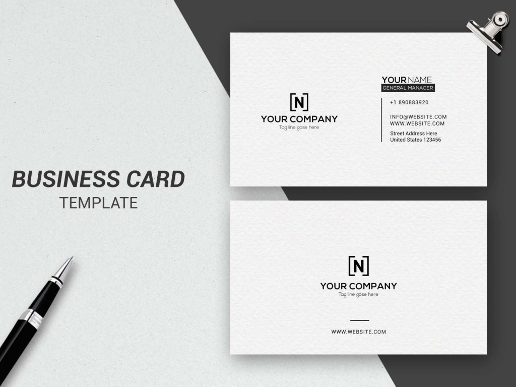 minimalist business card business
