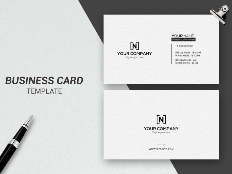 minimalist business card business