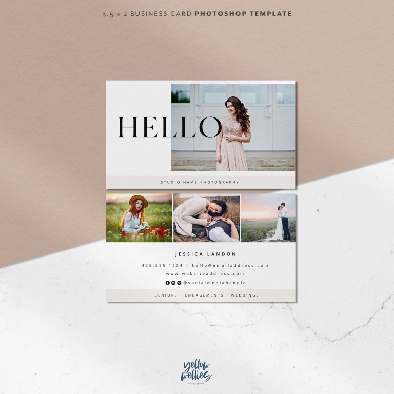 minimalist modern photographer business card design