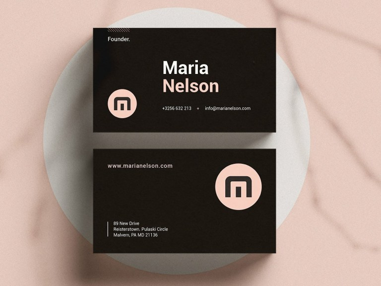 modern business card ms word business cards on dribbble