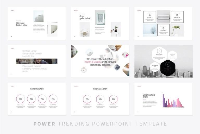 modern powerpoint template free mance
