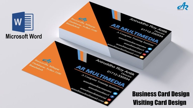 ms word tutorial how to create professional business card design in ms wordbiz card template 2013