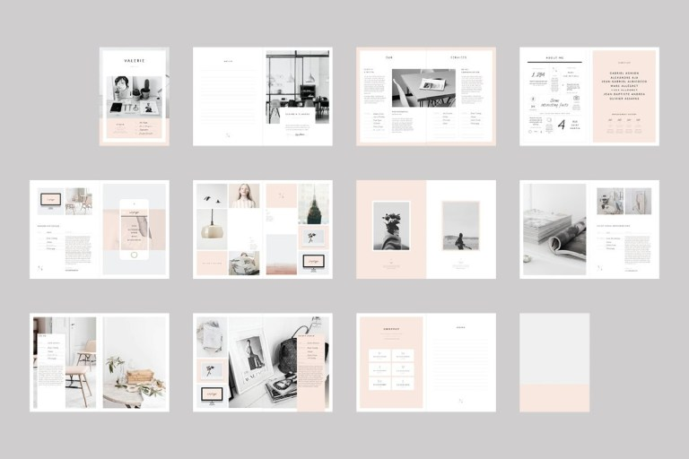 newington elegant and minimal portfolio indesign template