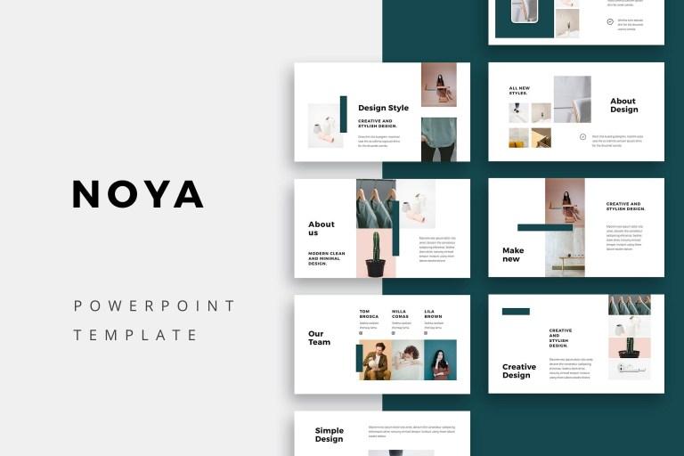 noya powerpoint template simple powerpoint templates