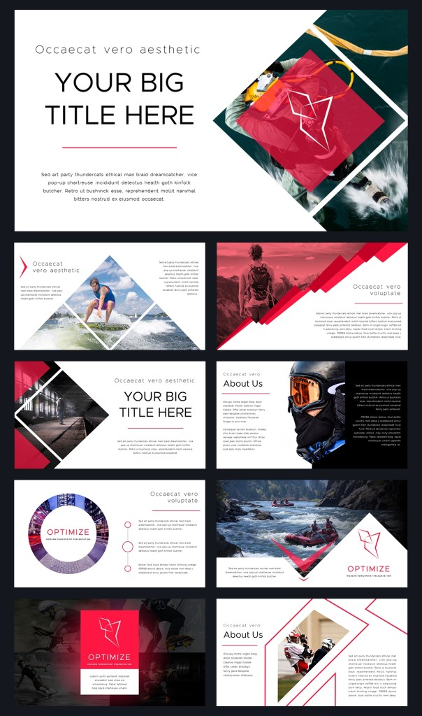 optimize modern powerpoint template with images