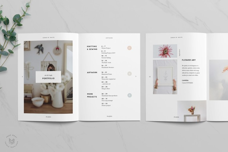 pagebeat this adobe indesign portfolio template