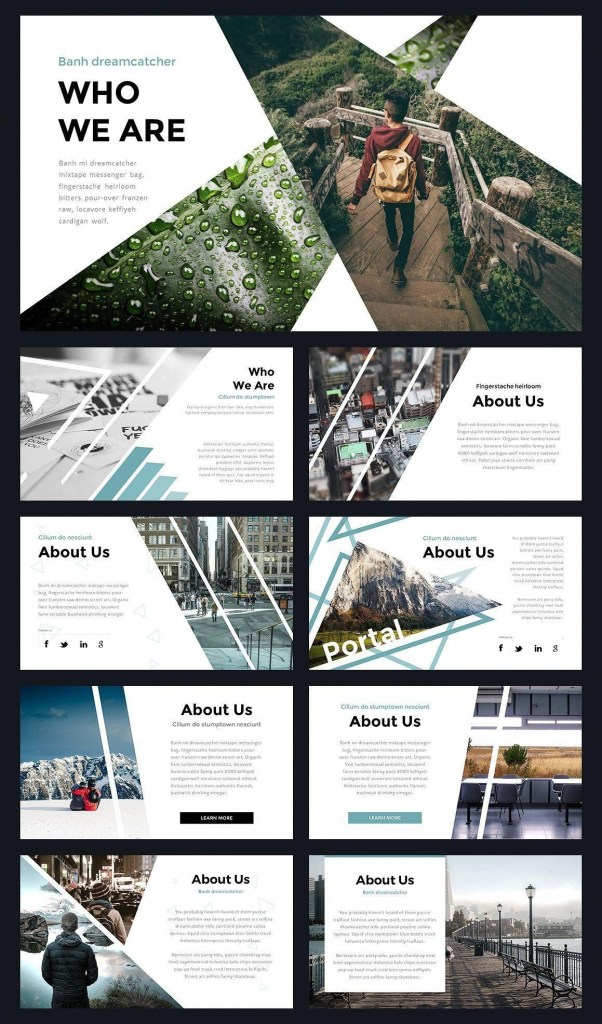 portal modern powerpoint template with images portfolio