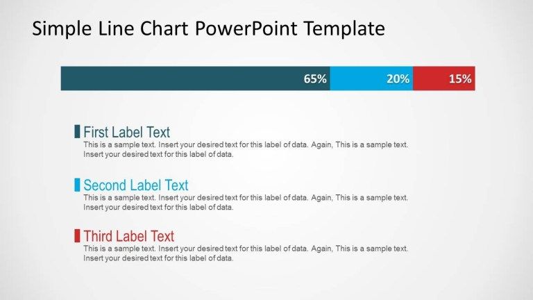 simple line chart for powerpoint