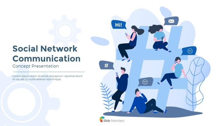 social network communication modern ppt templates